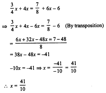 RD Sharma Class 8 Solutions Chapter 9 Linear Equations in One VariableEx 9.2 8