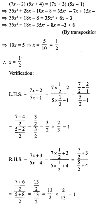 RD Sharma Class 8 Solutions Chapter 9 Linear Equations in One VariableEx 9.3 34
