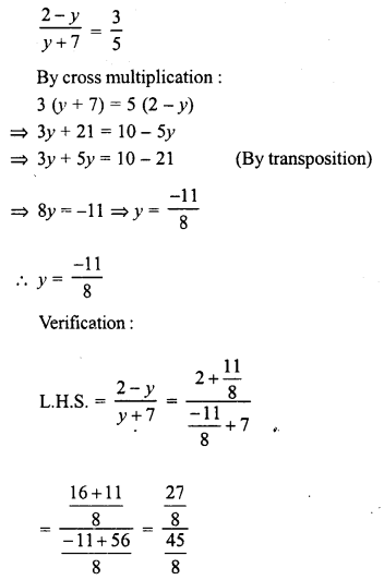 RD Sharma Class 8 Solutions Chapter 9 Linear Equations in One VariableEx 9.3 4