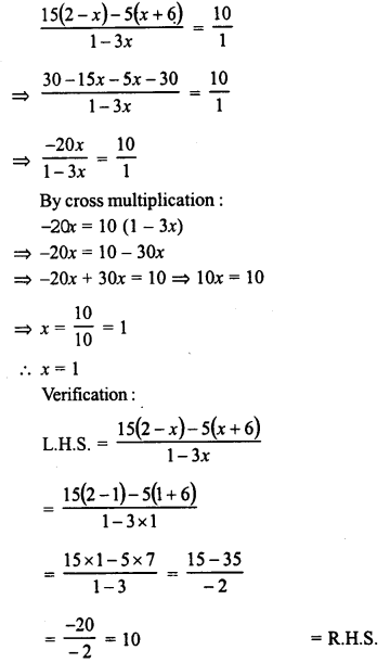 RD Sharma Class 8 Solutions Chapter 9 Linear Equations in One VariableEx 9.3 52