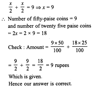 RD Sharma Class 8 Solutions Chapter 9 Linear Equations in One VariableEx 9.4 10