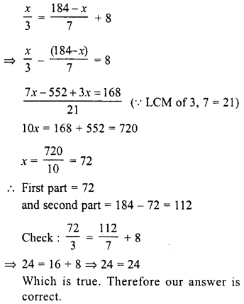RD Sharma Class 8 Solutions Chapter 9 Linear Equations in One VariableEx 9.4 6