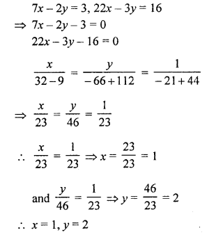 RS Aggarwal Class 10 Solutions Chapter 3 Linear equations in two variables Ex 3C 8