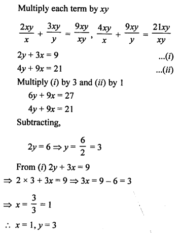 RS Aggarwal Class 10 Solutions Chapter 3 Linear equations in two variables Ex 3F 13