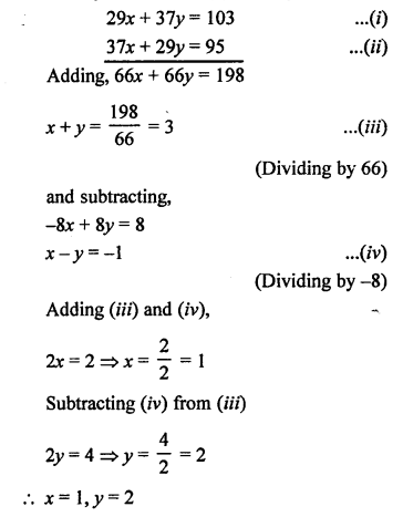 RS Aggarwal Class 10 Solutions Chapter 3 Linear equations in two variables MCQS 11