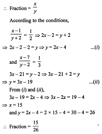 RS Aggarwal Class 10 Solutions Chapter 3 Linear equations in two variables MCQS 26