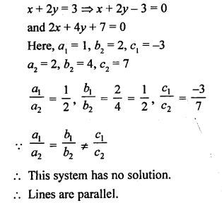 RS Aggarwal Class 10 Solutions Chapter 3 Linear equations in two variables Test Yourself 1