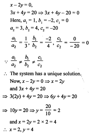 RS Aggarwal Class 10 Solutions Chapter 3 Linear equations in two variables Test Yourself 10