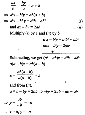 RS Aggarwal Class 10 Solutions Chapter 3 Linear equations in two variables Test Yourself 24