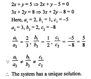 RS Aggarwal Class 10 Solutions Chapter 3 Linear equations in two variables Test Yourself 4
