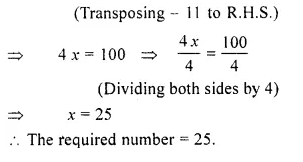 RS Aggarwal Class 6 Solutions Chapter 9 Linear Equations in One Variable Ex 9C Q2.1