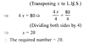 RS Aggarwal Class 6 Solutions Chapter 9 Linear Equations in One Variable Ex 9C Q3.1