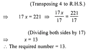 RS Aggarwal Class 6 Solutions Chapter 9 Linear Equations in One Variable Ex 9C Q5.1