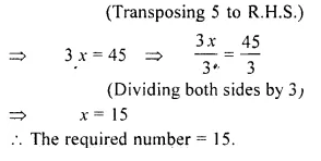 RS Aggarwal Class 6 Solutions Chapter 9 Linear Equations in One Variable Ex 9C Q6.1