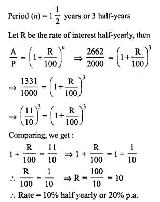 lass 8 Solutions Chapter 14 Compound InterestEx 14.3 20