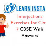 Interjections Exercises for Class 7