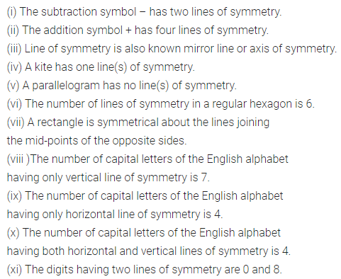 ML Aggarwal Class 6 Solutions for ICSE Maths Chapter 12 Symmetry Objective Type Questions 1