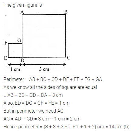 ML Aggarwal Class 6 Solutions for ICSE Maths Chapter 14 Mensuration Objective Type Questions 13