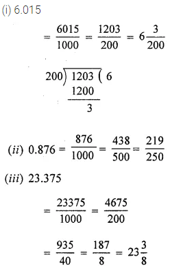 ML Aggarwal Class 6 Solutions for ICSE Maths Chapter 7 Decimals Check Your Progress 1