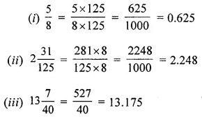 ML Aggarwal Class 6 Solutions for ICSE Maths Chapter 7 Decimals Check Your Progress 4