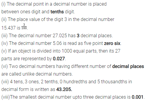 ML Aggarwal Class 6 Solutions for ICSE Maths Chapter 7 Decimals Objective Type Questions 1