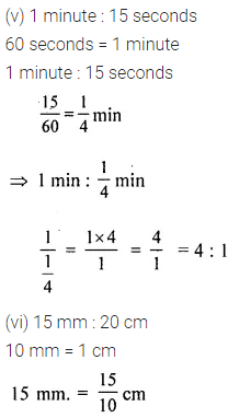 ML Aggarwal Class 6 Solutions for ICSE Maths Chapter 8 Ratio and Proportion Ex 8.1 5