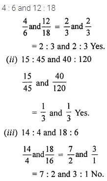 ML Aggarwal Class 6 Solutions for ICSE Maths Chapter 8 Ratio and Proportion Ex 8.2 1