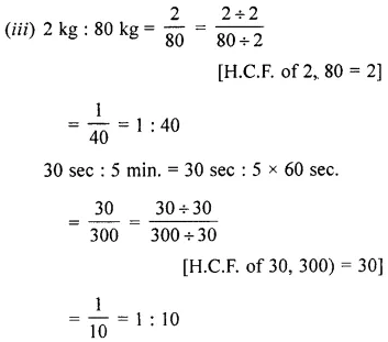 ML Aggarwal Class 6 Solutions for ICSE Maths Chapter 8 Ratio and Proportion Ex 8.2 10