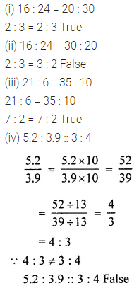 ML Aggarwal Class 6 Solutions for ICSE Maths Chapter 8 Ratio and Proportion Ex 8.2 3
