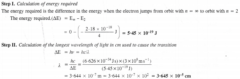 NCERT Solutions for Class 11 Chemistry Chapter 2 Structure of Atom 22