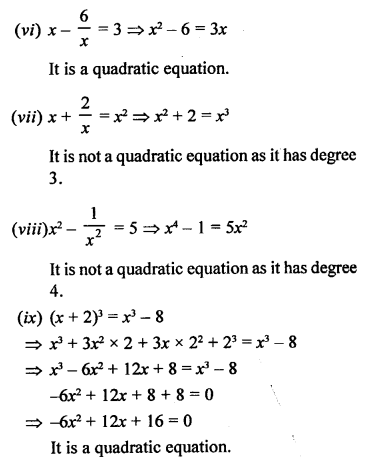 RS Aggarwal Class 10 Solutions Chapter 10Quadratic Equations Ex 10A 2