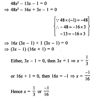 RS Aggarwal Class 10 Solutions Chapter 10Quadratic Equations Ex 10A 22