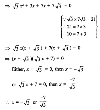 RS Aggarwal Class 10 Solutions Chapter 10Quadratic Equations Ex 10A 24