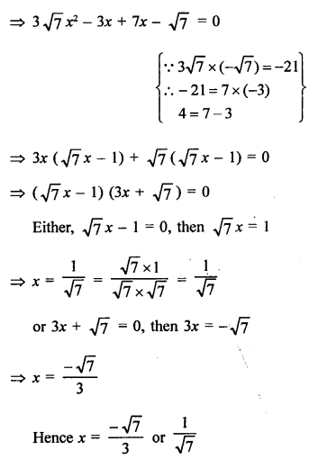 RS Aggarwal Class 10 Solutions Chapter 10Quadratic Equations Ex 10A 26