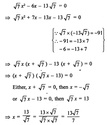 RS Aggarwal Class 10 Solutions Chapter 10Quadratic Equations Ex 10A 27