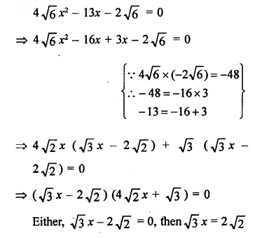 RS Aggarwal Class 10 Solutions Chapter 10Quadratic Equations Ex 10A 29