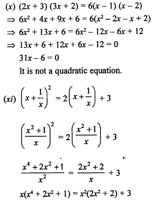 RS Aggarwal Class 10 Solutions Chapter 10Quadratic Equations Ex 10A 3