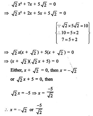 RS Aggarwal Class 10 Solutions Chapter 10Quadratic Equations Ex 10A 37