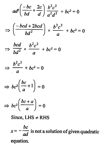 RS Aggarwal Class 10 Solutions Chapter 10Quadratic Equations Ex 10A 7