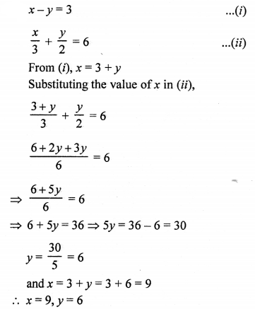 RS Aggarwal Class 10 Solutions Chapter 3 Linear equations in two variables Ex 3B 1