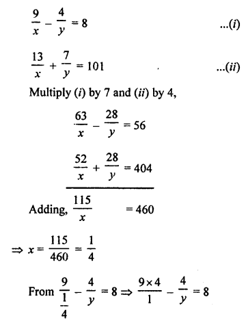 RS Aggarwal Class 10 Solutions Chapter 3 Linear equations in two variables Ex 3B 23