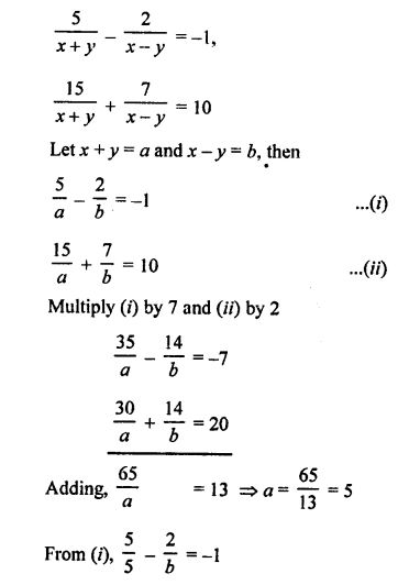 RS Aggarwal Class 10 Solutions Chapter 3 Linear equations in two variables Ex 3B 33