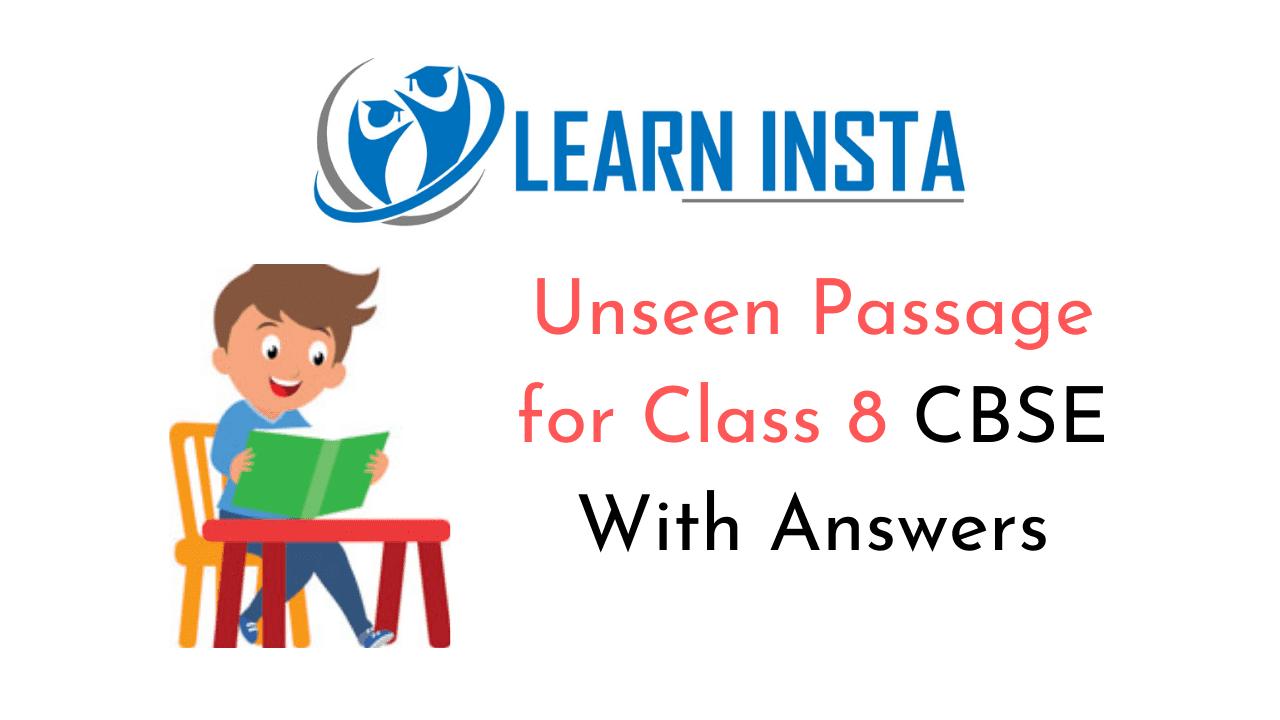 Unseen Passage for Class 8