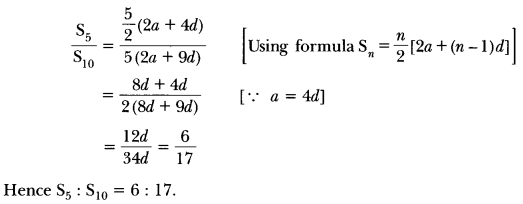 Arithmetic Progressions Class 10 Extra Questions Maths Chapter 5 with Solutions Answers 18