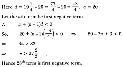 Arithmetic Progressions Class 10 Extra Questions Maths Chapter 5 with Solutions Answers 4