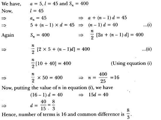 Arithmetic Progressions Class 10 Extra Questions Maths Chapter 5 with Solutions Answers 7
