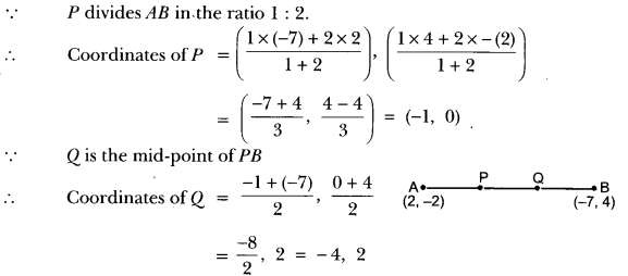 Coordinate Geometry Class 10 Extra Questions Maths Chapter 7 with Solutions Answers 22