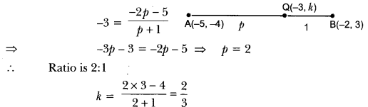 Coordinate Geometry Class 10 Extra Questions Maths Chapter 7 with Solutions Answers 23