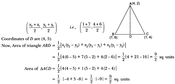 Coordinate Geometry Class 10 Extra Questions Maths Chapter 7 with Solutions Answers 59