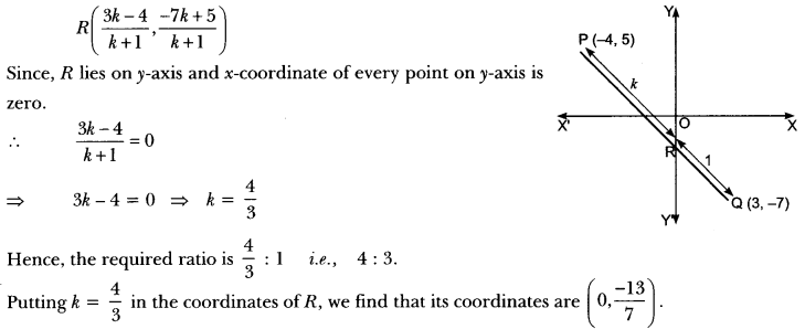Coordinate Geometry Class 10 Extra Questions Maths Chapter 7 with Solutions Answers 72